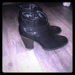 XOXO black ankle booties. Size 7
